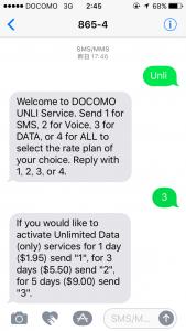 SIMカードのプラン選択